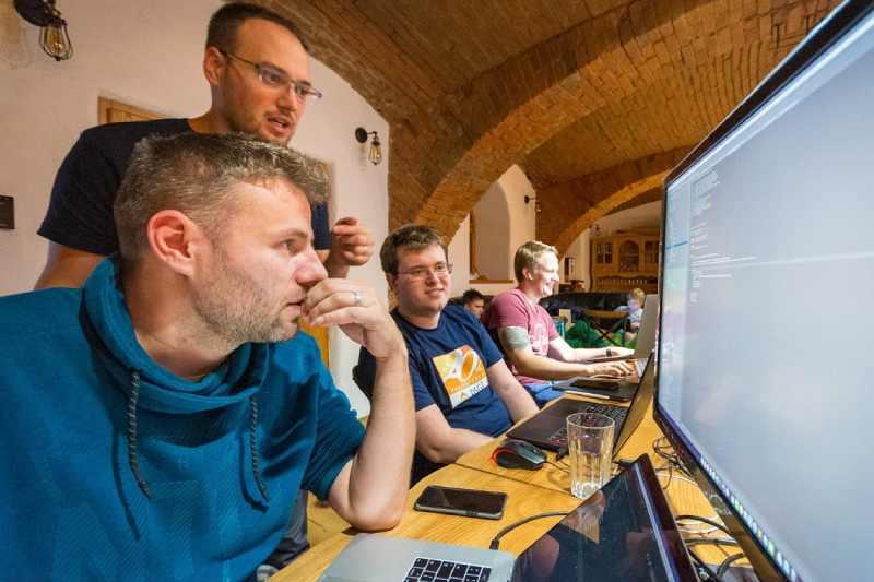 Firemní školení a hackathon na statku Vletice jižní Čechy