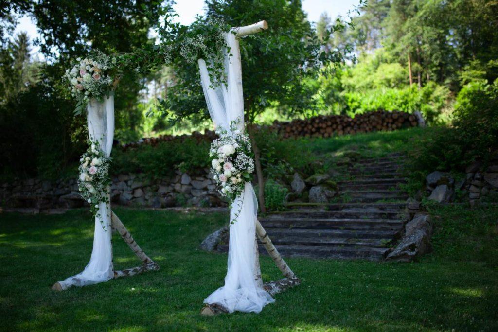 Svatební brána na statku Vletice