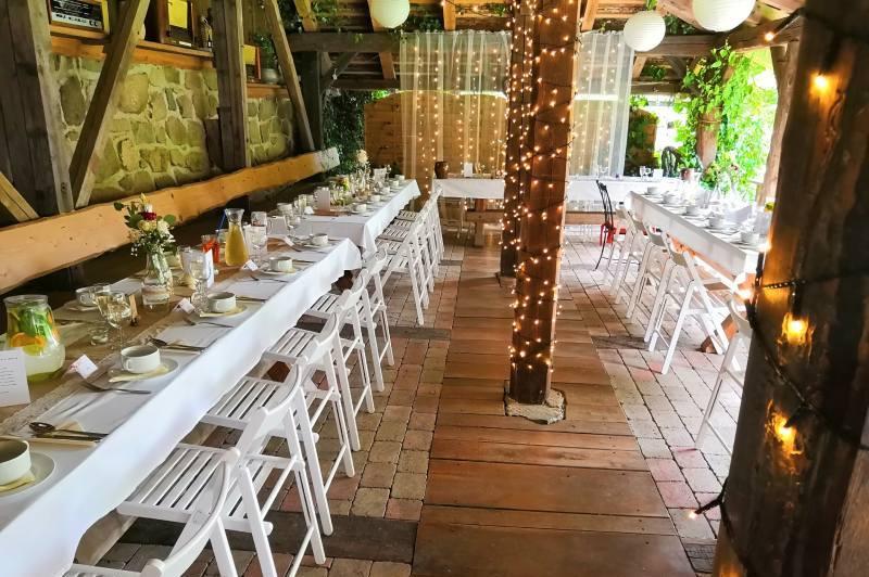 Svatební hostina na statku Vletice
